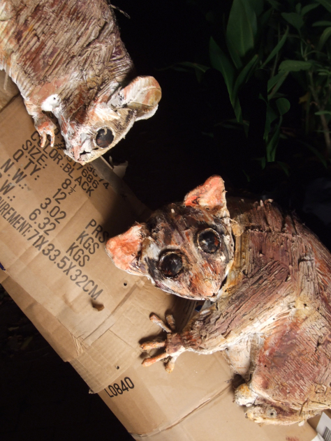 Peter Forward's sculpture of the Leadbeater's Possum formed part of the Departure Lounge exhibit. Image: Peter Forward.