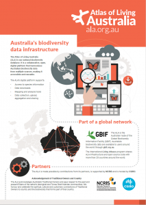 Atlas of Living Australia brochure