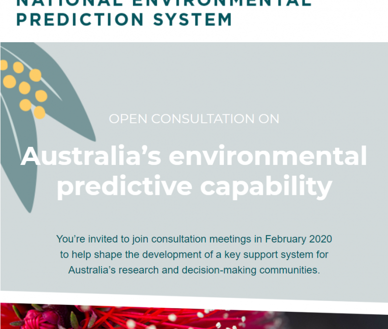 Text banner showing National Environmental Prediction System