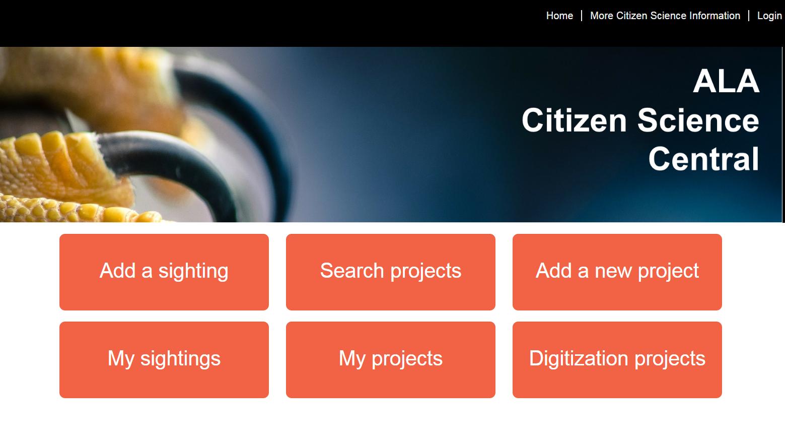 Goto ALA Citizen Science Central