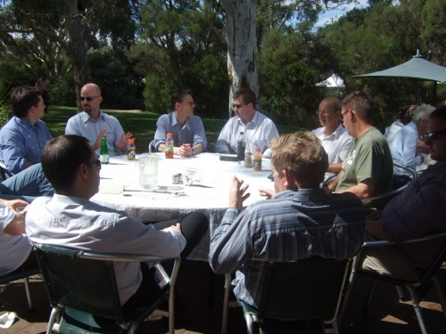 FCIG / HISCOM Meeting March 2011 Lunch at Hudson's ANBG