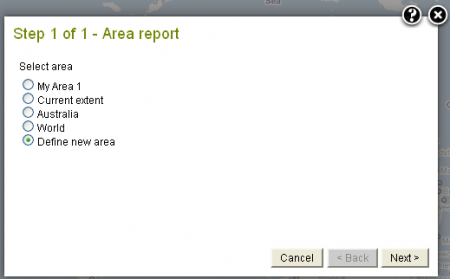 Area Report Step1 Use My Active Area