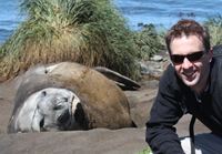 Ben with a seal