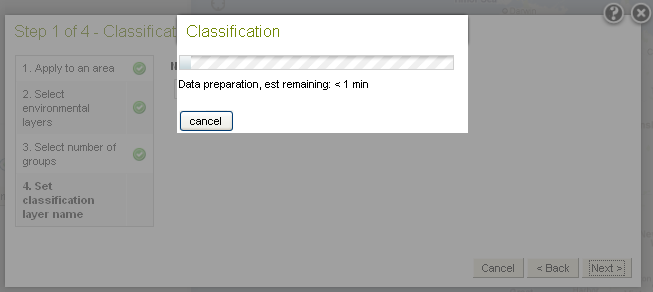 Classify Step 4 Data preparation Dialogue Box