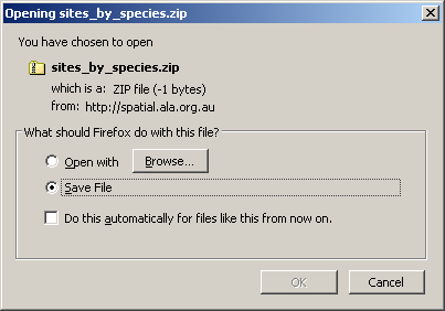 Download Species Zipfile