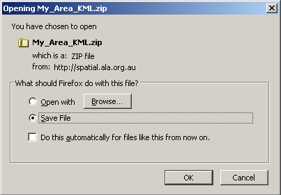 Export KML zip file