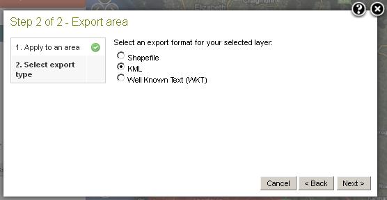 Export Area KML