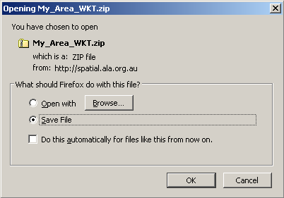 Export WKT zip file