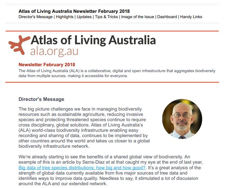 Image: ALA Newsletter February 2018 – Edition 2