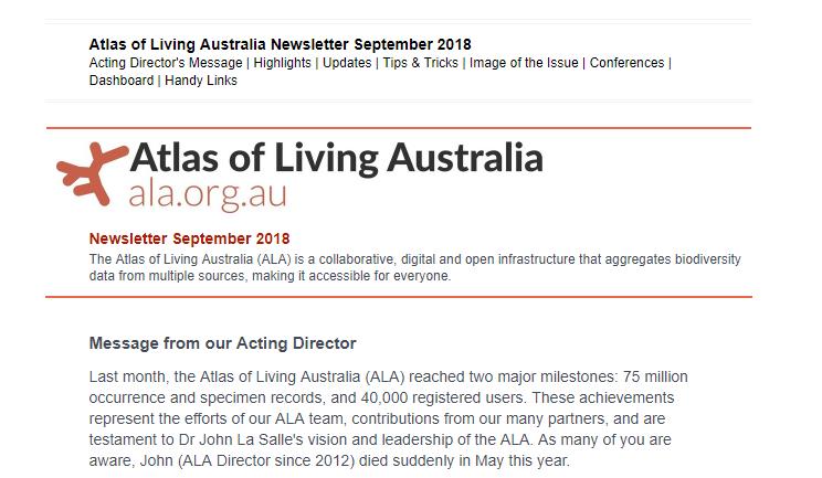 Image: ALA Newsletter September 2018 – Edition 4