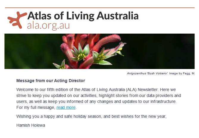 Image: ALA Newsletter December 2018 – Edition 5