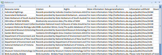 Example of a saved citation.csv file
