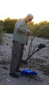 Norm McKenzie setting up the bat recorder at Emouth Gulf