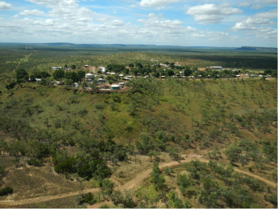 Photo of the town of Ngukurr
