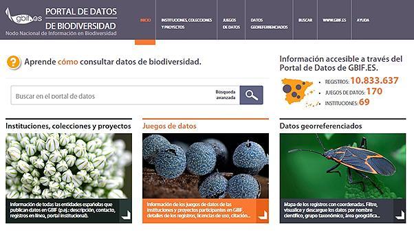 Image of Spain's new biodiversity portal